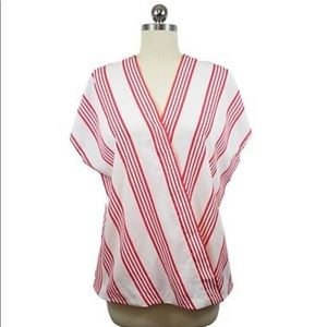 Talbot red stripped blouse